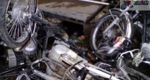 choque de dos motocicletas