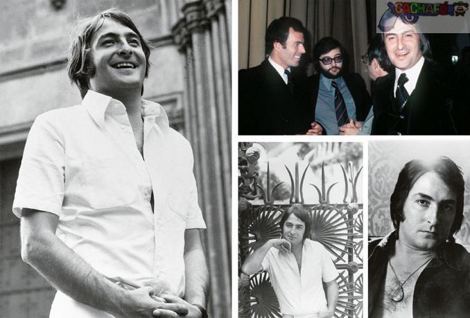 Artistas. En la foto, abajo, a Nino Bravo figura junto a Julio Iglesias, dos glorias en la historia de la canción popular hispana. En la imagen principal se le ve en Barcelona, feliz cuando la vida empezaba a sonreírle. En los escenarios y en la discografía fue un auténtico monstruo de la canción.